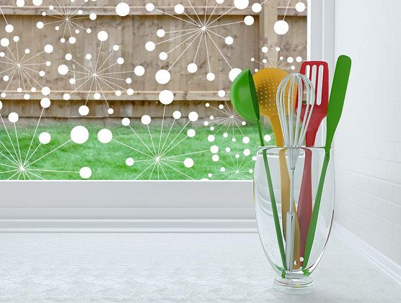 Decorative Modern Window Film  Static Cling or by OdhamsPress, $89.00