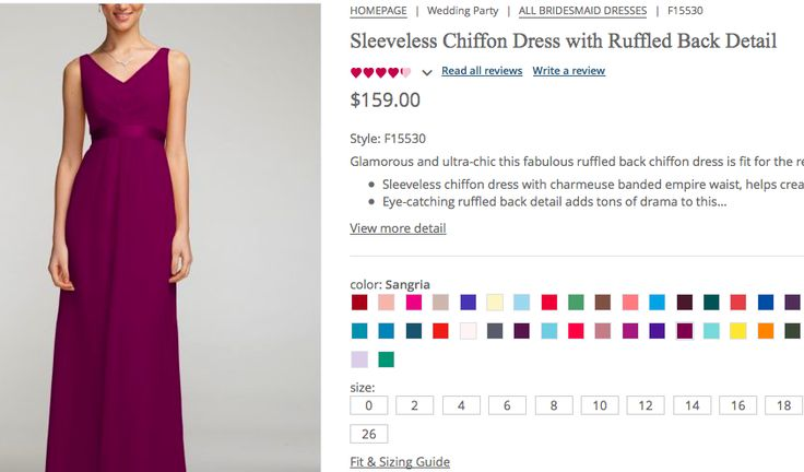Front of the second dress, in color sangria