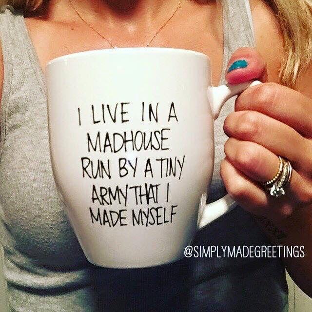 I live in a madhouse mug