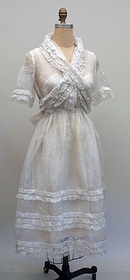 c.1919 - 1920 White Silk Gauze Tea Dress: 1920 S, Gauze Teas, Dresses 1919 1920, 1920 White, Tea Dresses, Silk Gauze, Afternoon Dresses, 1910 1920S, Teas Dresses