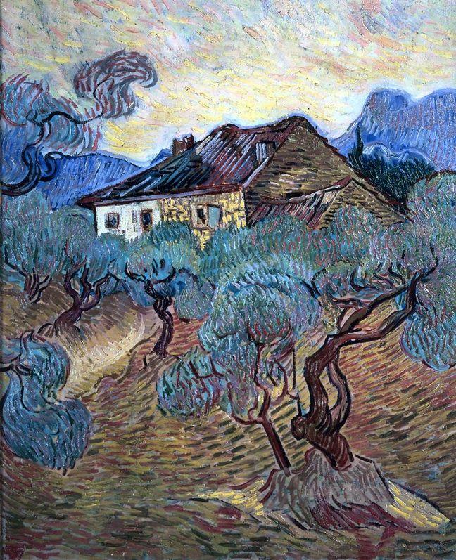 The Cottage among the Olive Trees (Le Masion Blanc dans les Oliviers) VINCENT VAN GOGH (1853-1890)