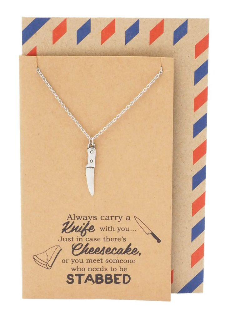 Maddox Best Friend Gifts Knife Necklace Funny Birthday Cards – Quan Jewelry