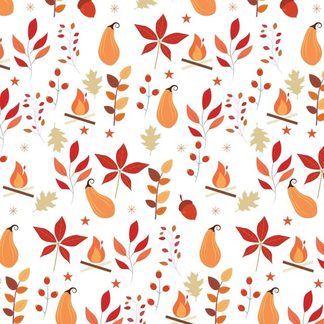 Autumn Harvest Pattern Autumn Background Beautiful Png And Vector With Transparent Background For Free Download Seamless Patterns Watercolor Autumn Leaves Pattern