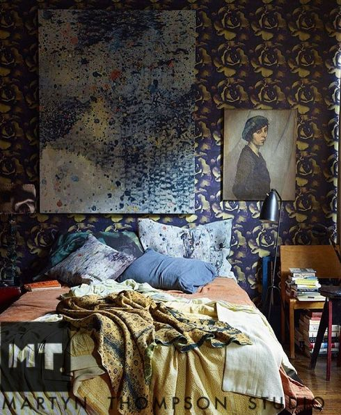 #tbt Ultimate messy bed  #martynthompsonstudio on the cover of the #designhunting issue of @nymag @dhwendygoodman photo @martyn_thompson