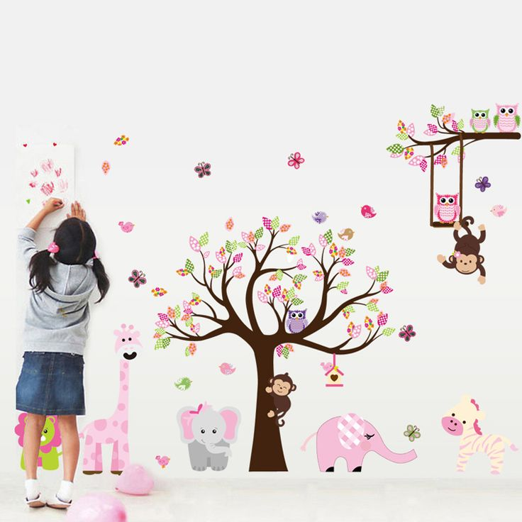Állatok színes kavalkádja egész falas falmatrica. #elefánt #zebra #zsiráf #majom #gyerekszobafalmatrica #falmatrica #gyerekszobadekoráció #gyerekszoba #matrica #faldekoráció #dekoráció