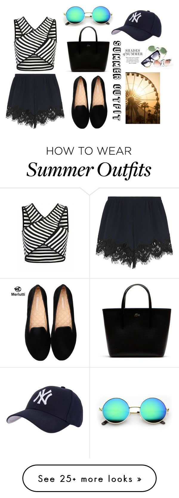 Summer outfit #1 by kawaii-02 on Polyvore featuring Chloé, Lacoste and Hartford