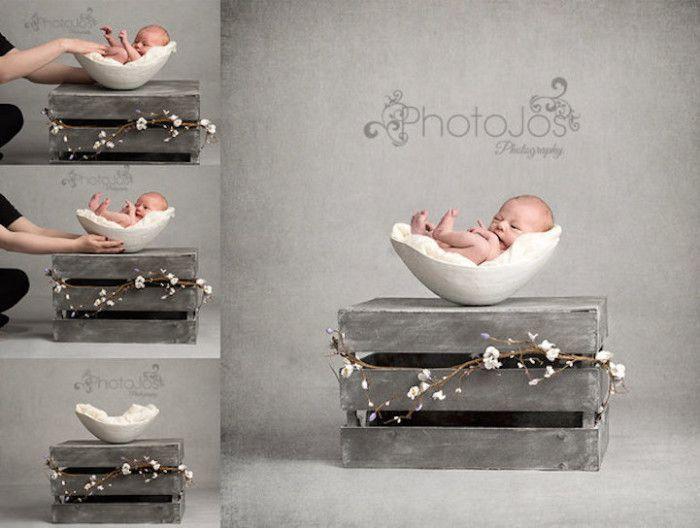 Toccanti fotografie di neonati rannicchiati in stampi della pancia della madre incinta