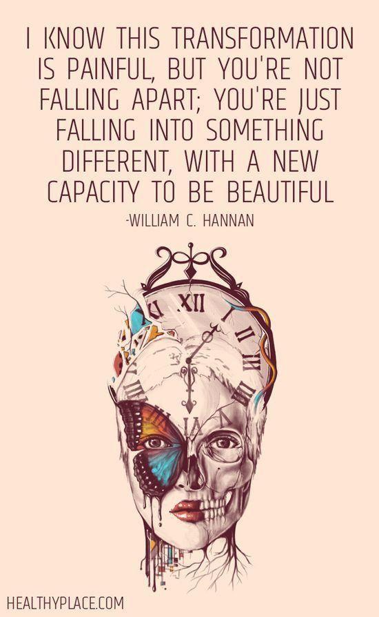 You're not falling apart...