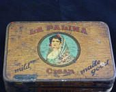 La Palina Senators Cigars Vintage Tin - Vintage with surface wear, interior shows some areas of discoloration.