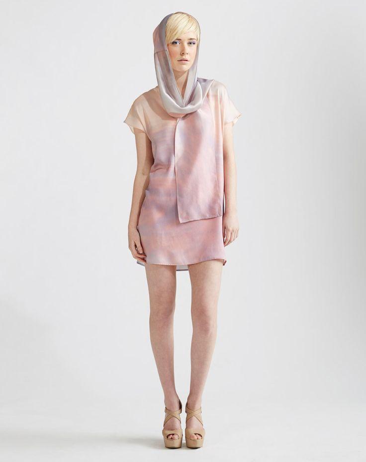 Digitally printed Kimono Tee Dress and scarf in Sunrise Print  www.jenkinsandjane.com.au