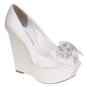 david tutera wedge wedding shoes now at myglassslippercom