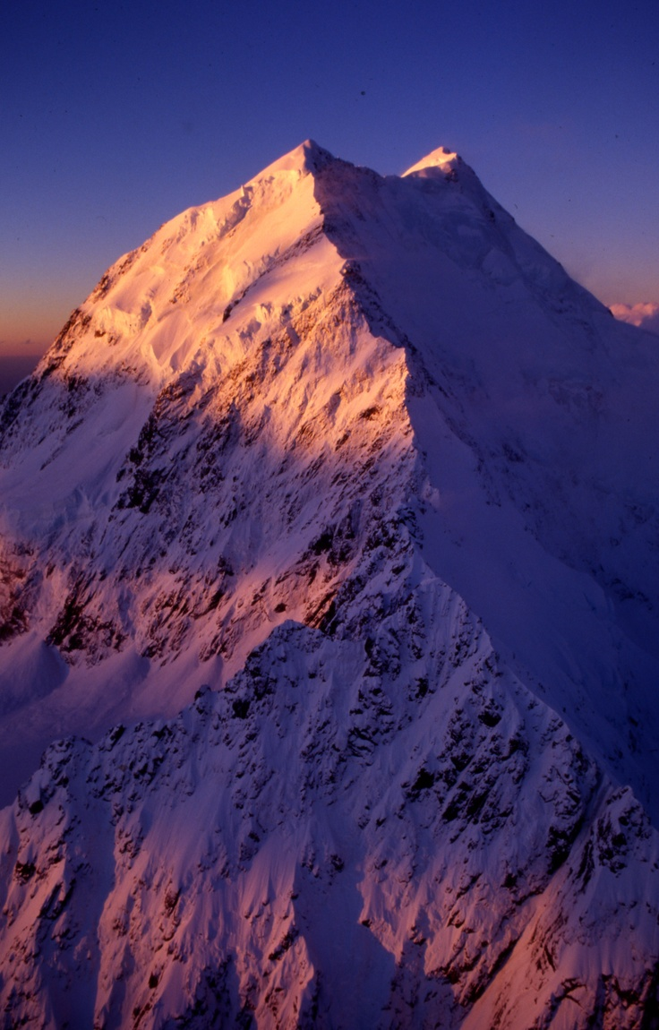 South Face of Aoraki / Mount Cook, Southern Alps, New Zealand  -    Photo Guy Cotter.