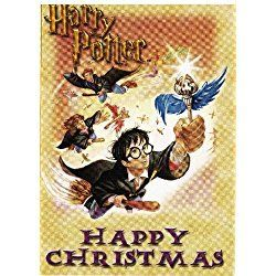 Harry Potter 'Happy Christmas' Set of 4 Gift, Note or Mini Greeting Cards