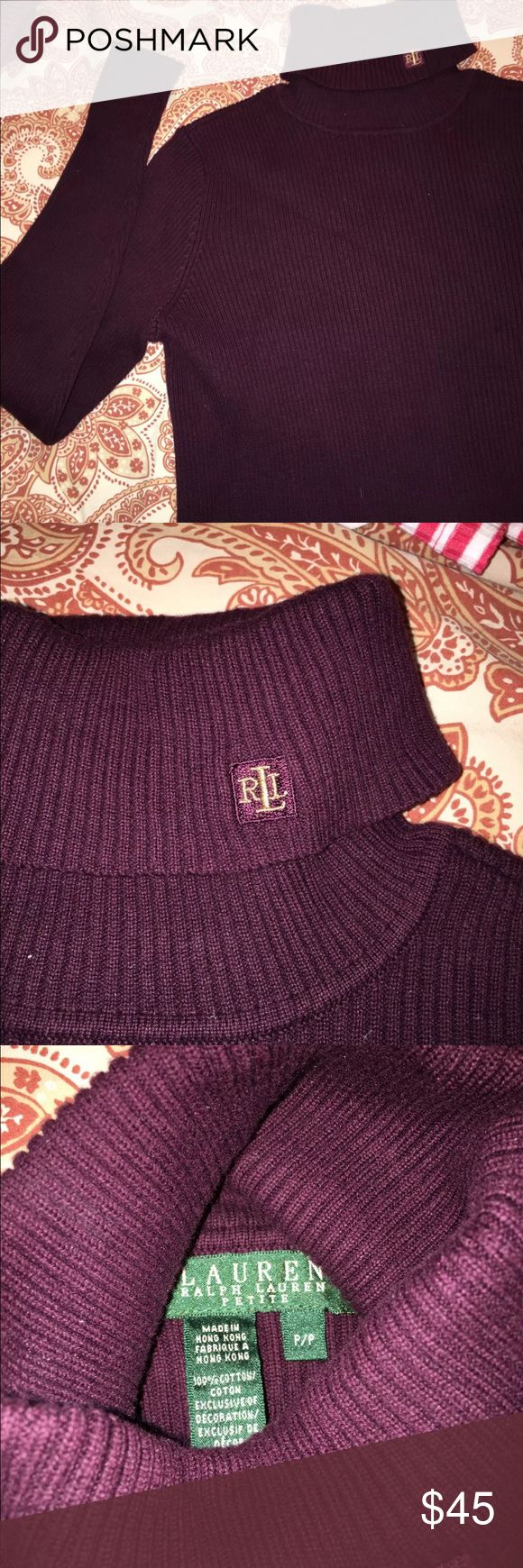 NWOT Lauren Ralph Lauren Turtleneck! Beautiful lauren ralph lauren deep purple turtleneck✨ I bought this but never wore it so it's new without tags ✨ Fits a SMALL Lauren Ralph Lauren Tops