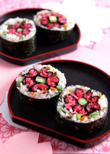 sakuraの飾り寿司 のレシピ・作り方 │ABCクッキングスタジオのレシピ | 料理教室・スクールならABCクッキングスタジオ