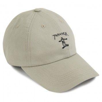 Thrasher Gonz Old Timer Cap in Tan / Black