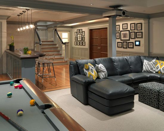 Great basement idea - so cozy! This is exactly what I want to do in our basement. Thx Pinterest