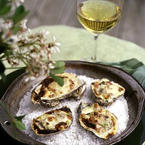 What's Your State's Beach Food? | Virginia: Broiled Oysters with Celery Cream and Virginia Ham | CoastalLiving.com