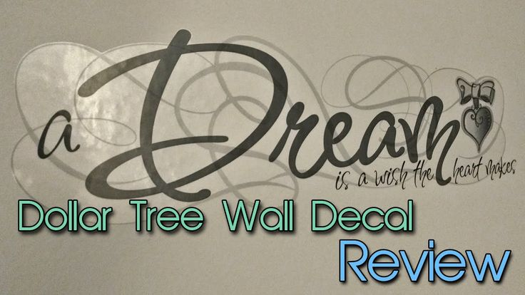 Looking for some cheap wall decor? Look no further than your Dollar Tree! Check out my quick review on these wall decals.