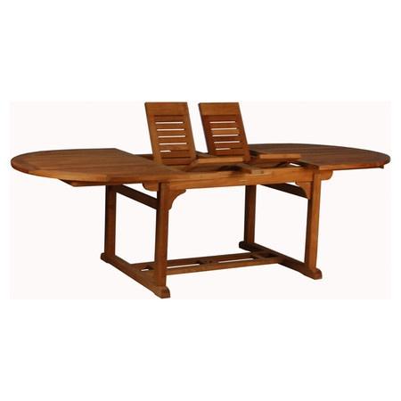 piece dalton indoor outdoor teakwood dining set