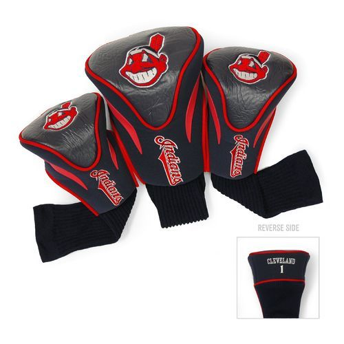 Team Golf Cleveland Indians Contour Sock Head Covers 3-Pack - Golf Equipment, Collegiate Golf Products at Academy Sports