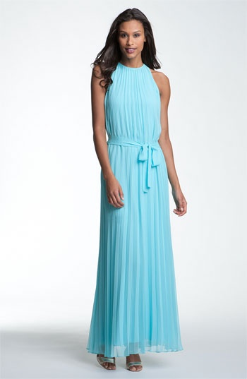 Pleated Chiffon Maxi Dress | Nordstrom