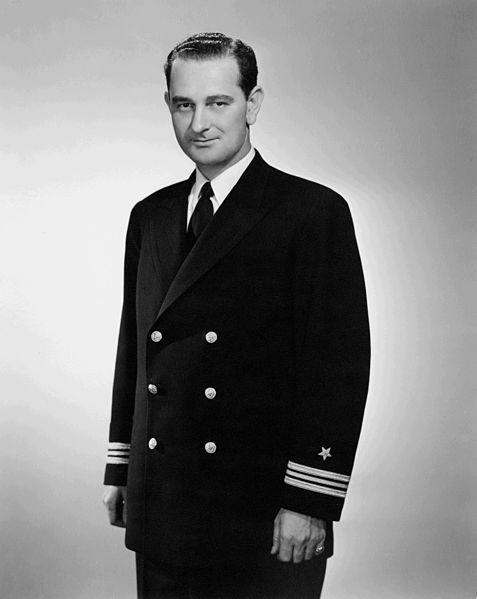 Never liked the guy politically, but kudos to him anyway (mkc).--President Lyndon Baines Johnson, US Navy, WWII (from Pam Shriver).