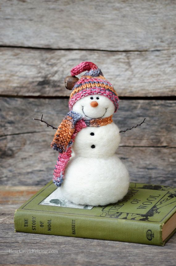 Bear Creek Snowman needle felted by Teresa Perleberg