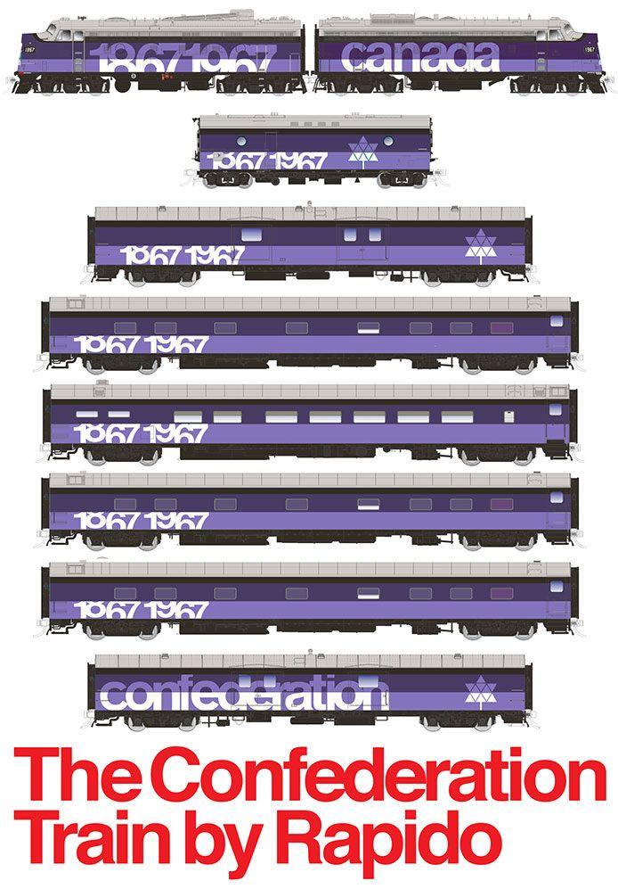 HO scale Confederation Train