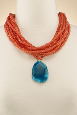 Gabrielle Necklace from Soft Surroundings $99 crystal & chalcedony