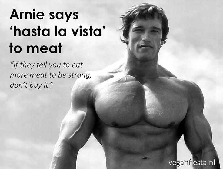 Arnold Schwarzenegger About Eating Meat Or Rather About