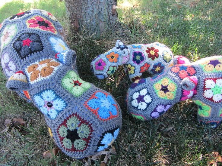 Free Amigurumi Hippo Pattern : Crochet african flower animal pattern free dancox for