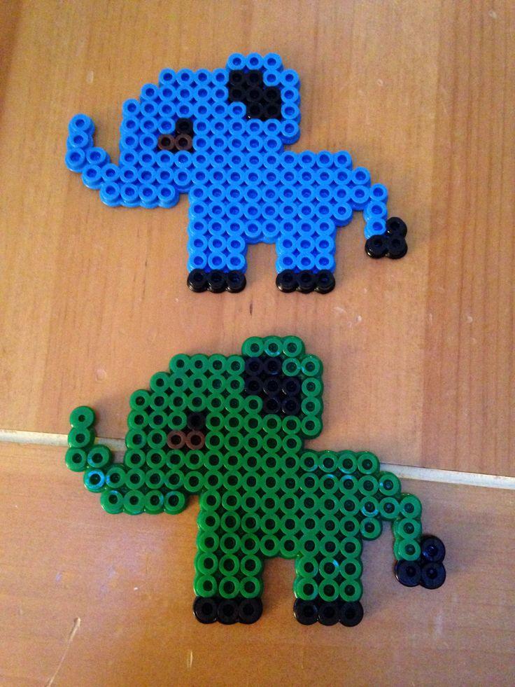 Perler bead elephant