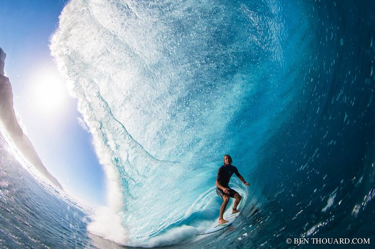 Owen Wright at teahupoo - Owen Wright  on a good one at Teahupoo. Shot with AquaTech Air Tahiti Nui F-Stop Gear SmugMug #benthouard