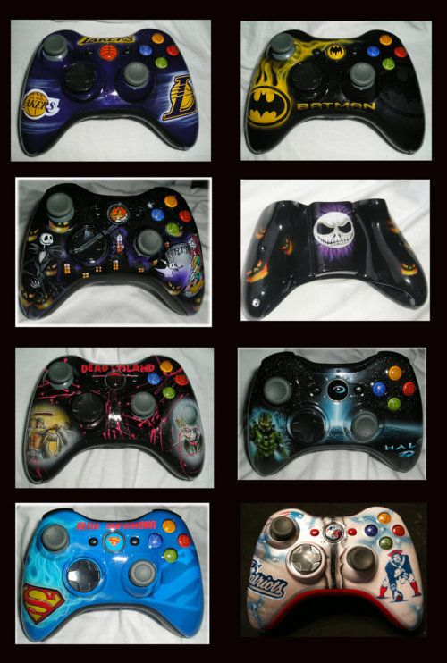Xbox 360 controllers finished by ~chrisfurguson