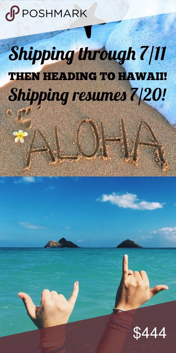 🌺PLEASE NOTE SHIPPING DATES🌺 I am shipping through 7/11 then heading to Hawaii. I will resume shipping 7/20. Aloha PFF's🤙🏼☀️🌊 Other