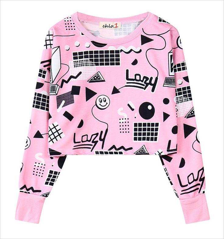 Cheap Nuevo 2016 Harajuku mujeres camisetas de color rosa impresión Jogging Femme sudaderas de algodón de lana más tamaño Hoodies flojos cortos, Compro Calidad Sudaderas directamente de los surtidores de China: Sweatshirt Women 2015 Jogging Femme Loose Hooded Fleece Sport Long Sleeve Hoodie 3D Painting Unicorn Hip Hop Sweatshirts