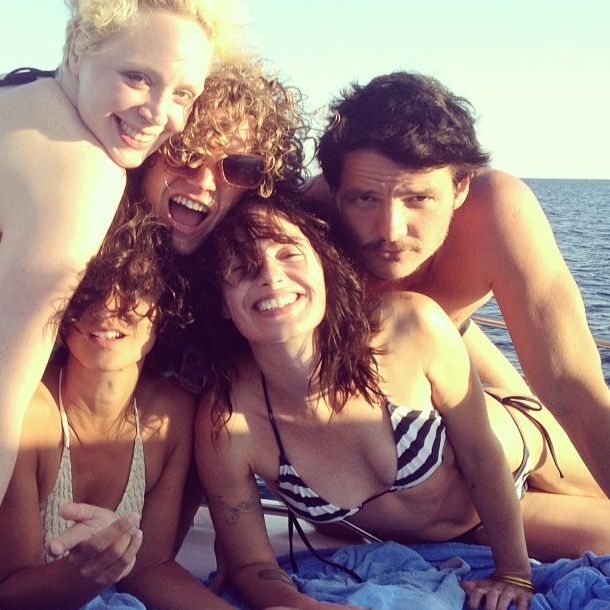 """Brienne of Tarth, Ser Loris, Cersei, and new character Oberyn Martell went yachting. 
