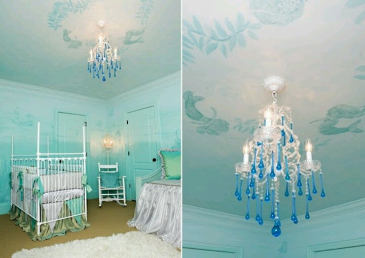 Under the sea nursery. Since the little mermaid is my favourite Disney movie...this would be perfect! Had hoped to do this for our little girl <\3