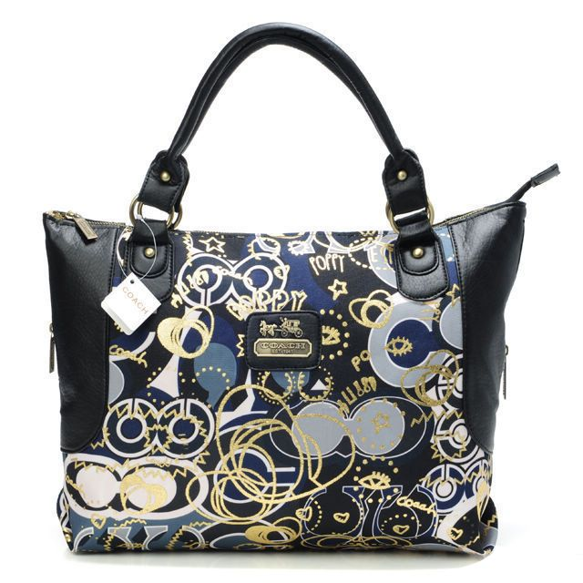 Sweet Dream Of Your Coach Poppy In Monogram Large Black Tote