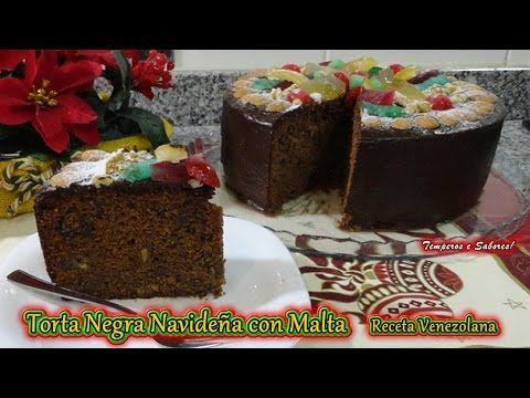 TORTA NEGRA NAVIDEÑA CON MALTA tradición venezolana y muy deliciosa - YouTube