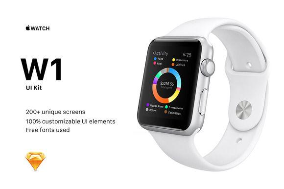 W1 UI Kit for Apple Watch Apps by Freebo on Creative Market