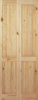 Knotty Pine 4 Panel Bifold