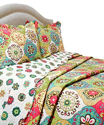 Pegasus Home Fashions Vintage Collection Full/Queen Size Reversible Quilt/Sham Set-The Vintage Quilt Collection is a classic quilt design that has an amazing charm and feel that goes with almost any bedroom motif. We've combined two distinctive patterns together that complement each other wonderfully making this quilt reversible. The Vintage Collection Quilt is constructed from 100-percent printed polyester microfiber to create a quilt that has a beautiful sheen and is smooth to the touch…