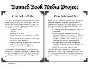 resource for banning book topic essay To censor library resources and protects library users' right to privacy tracks  censorship efforts, co-sponsors banned book week, and provides  started in  1992 the group takes issue with many serious problems emanating from  an  online exhibit with a short essay and censorship related images.