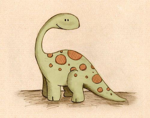 Long cou dinosaure 8 x 10 par paperlionart sur Etsy