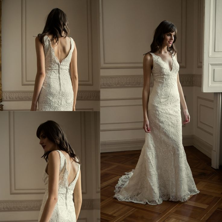 Vestidos de novia sirena de macrame · Mermaid macrame wedding dress