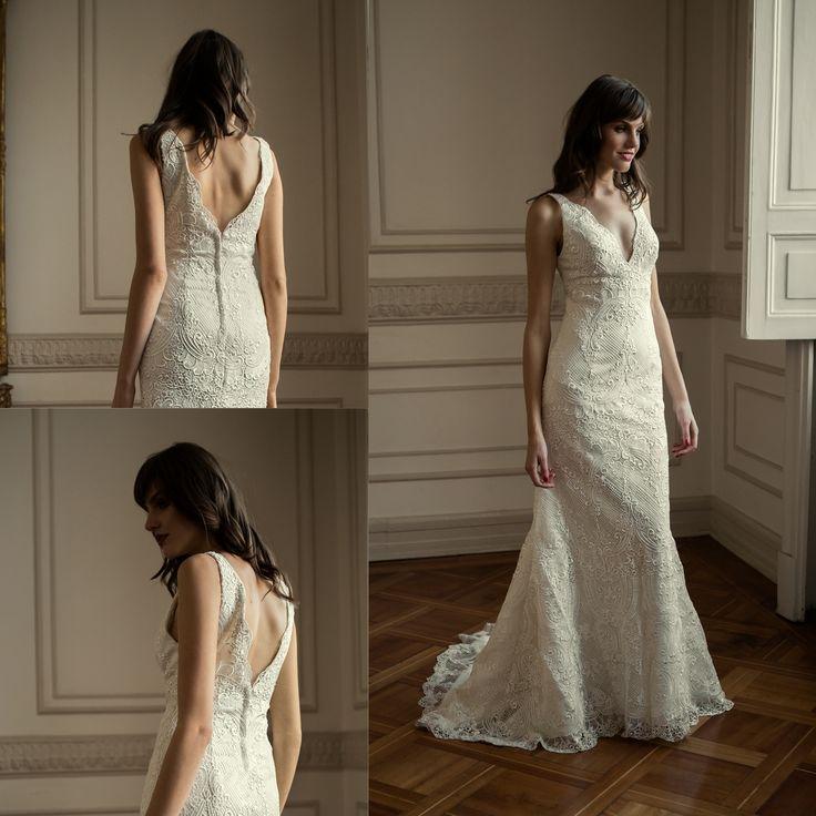 Vestidos de novia sirena de macrame · Mermaid macrame wedding dress