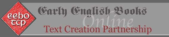 Website: Early English Books Online, searchable database.