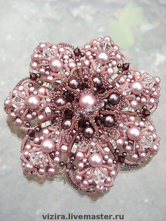 Jewelry in the technique frivolite (Master Alla Vizir)